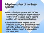 adaptive control of nonlinear systems