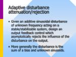 adaptive disturbance attenuation rejection