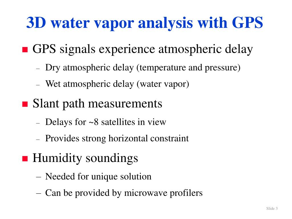 3D water vapor analysis with GPS