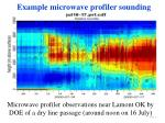 example microwave profiler sounding