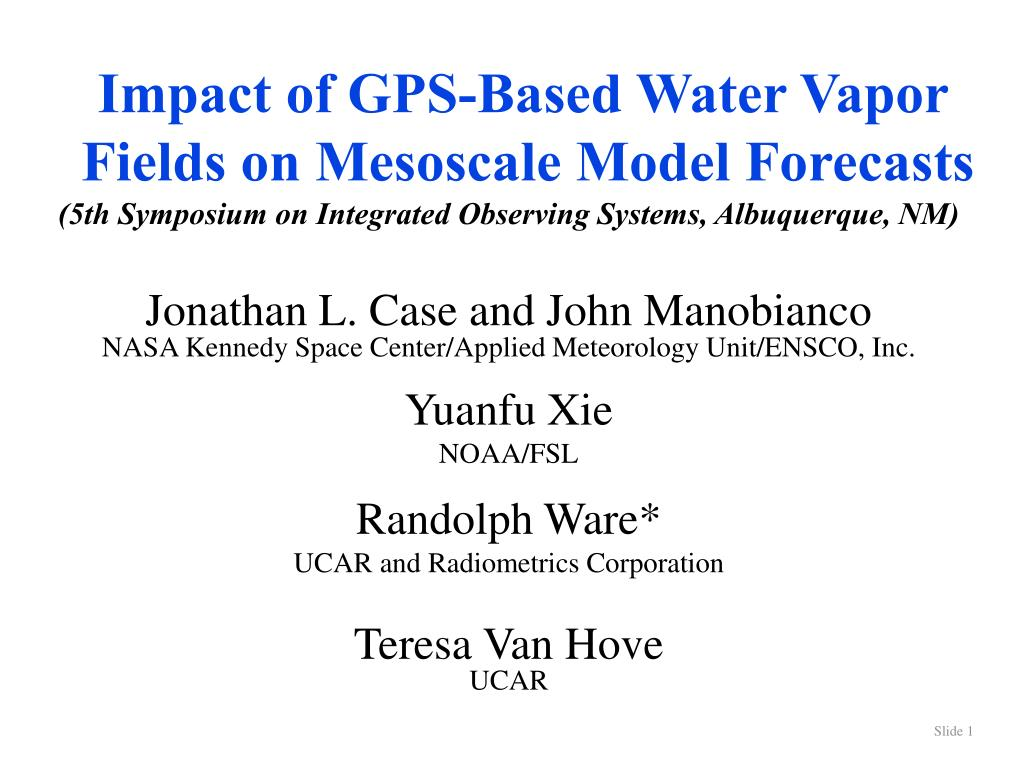 Impact of GPS-Based Water Vapor Fields on Mesoscale Model Forecasts