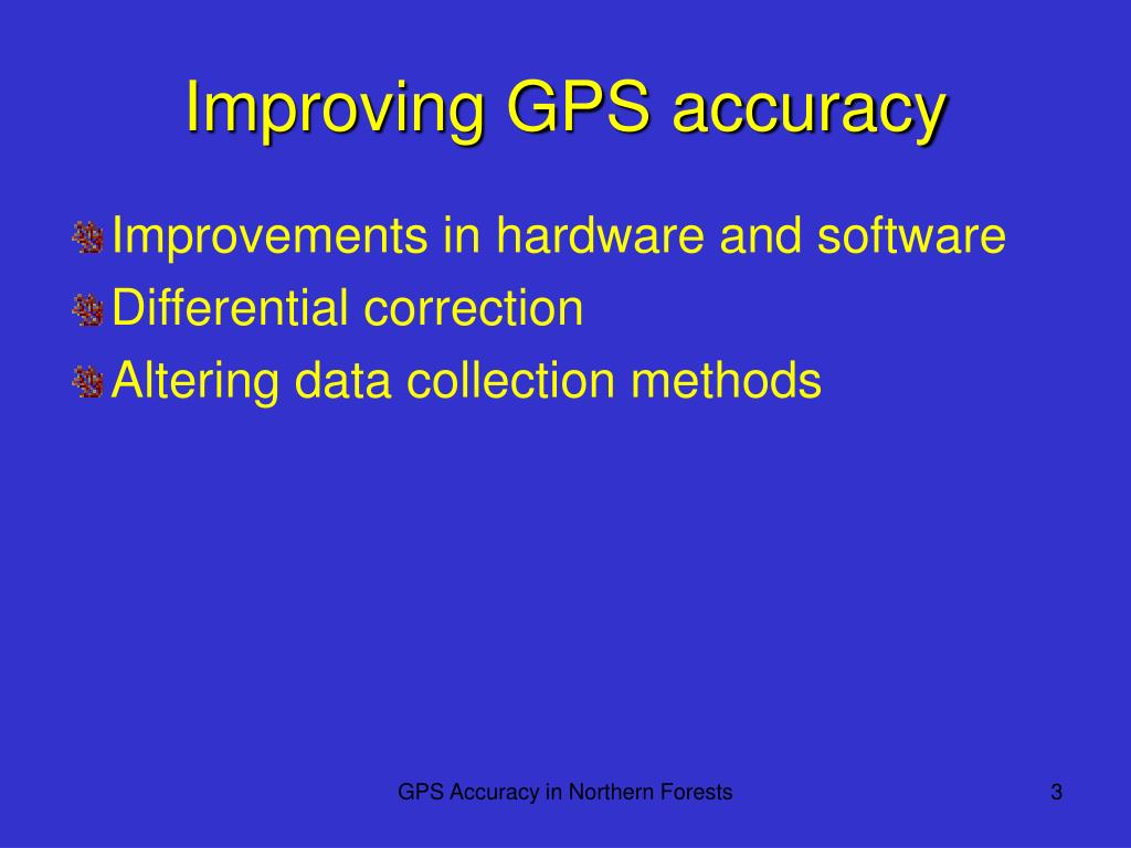 Improving GPS accuracy