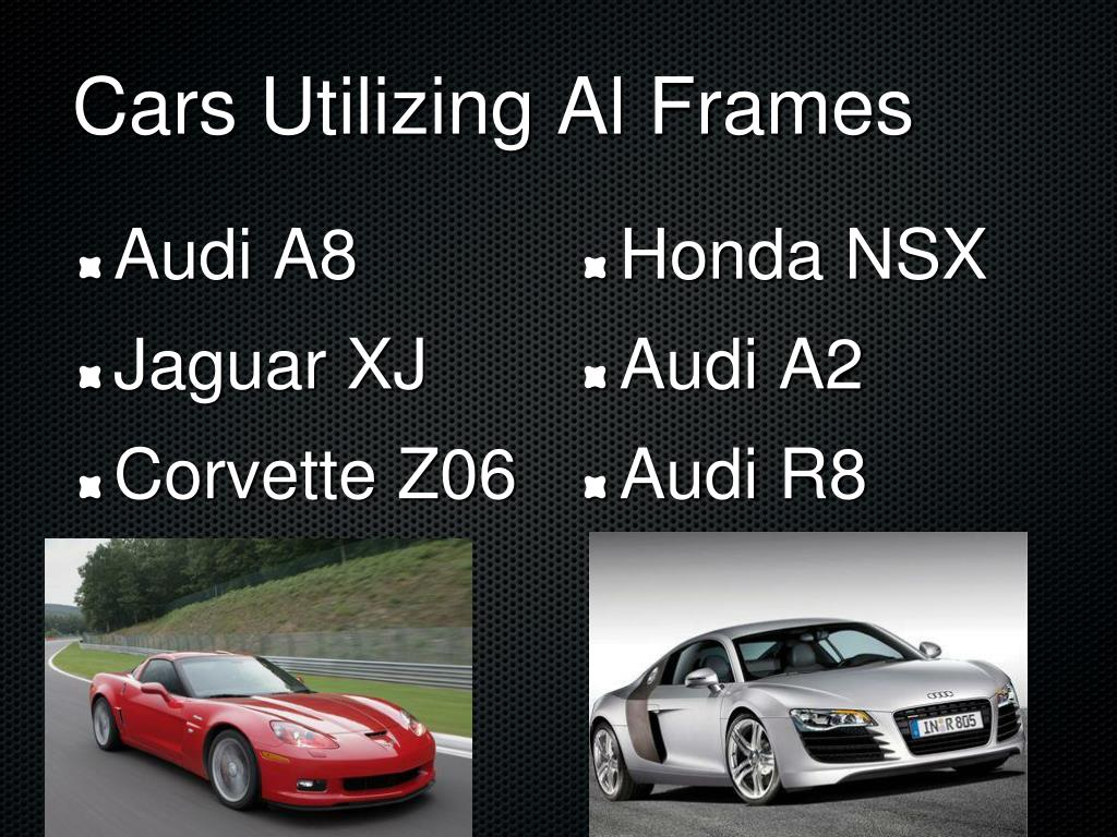 Cars Utilizing Al Frames