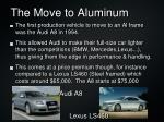 the move to aluminum