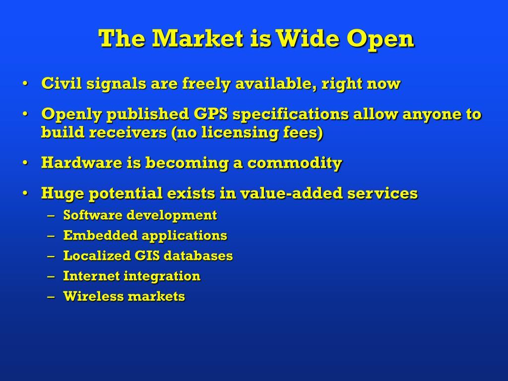 The Market is Wide Open