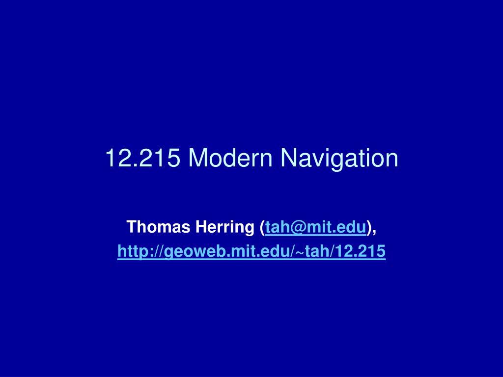 12 215 modern navigation