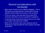 general considerations with handhelds