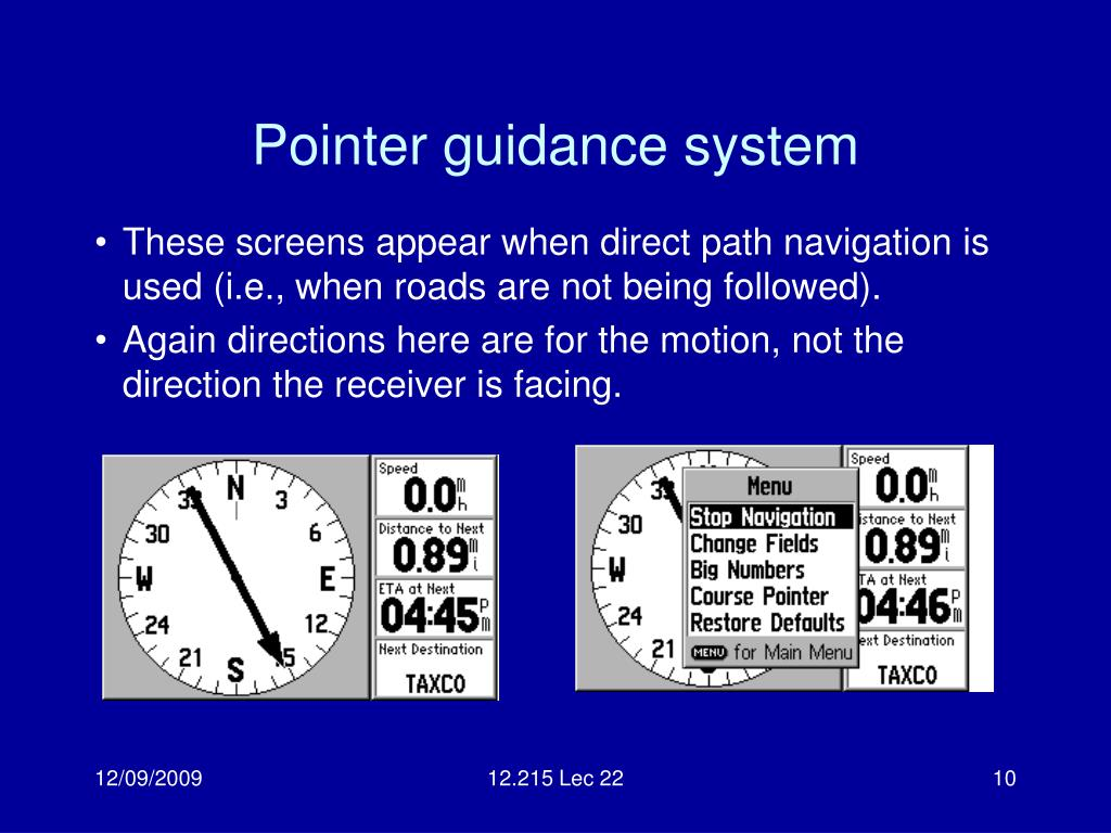 Pointer guidance system