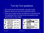 turn by turn guidance