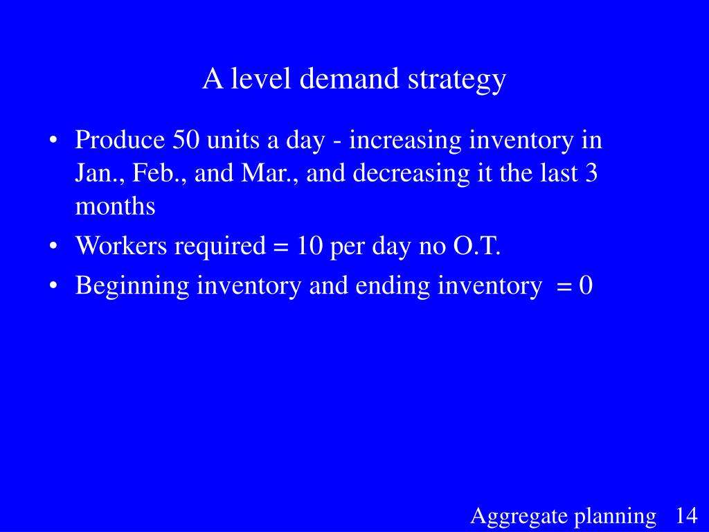 A level demand strategy
