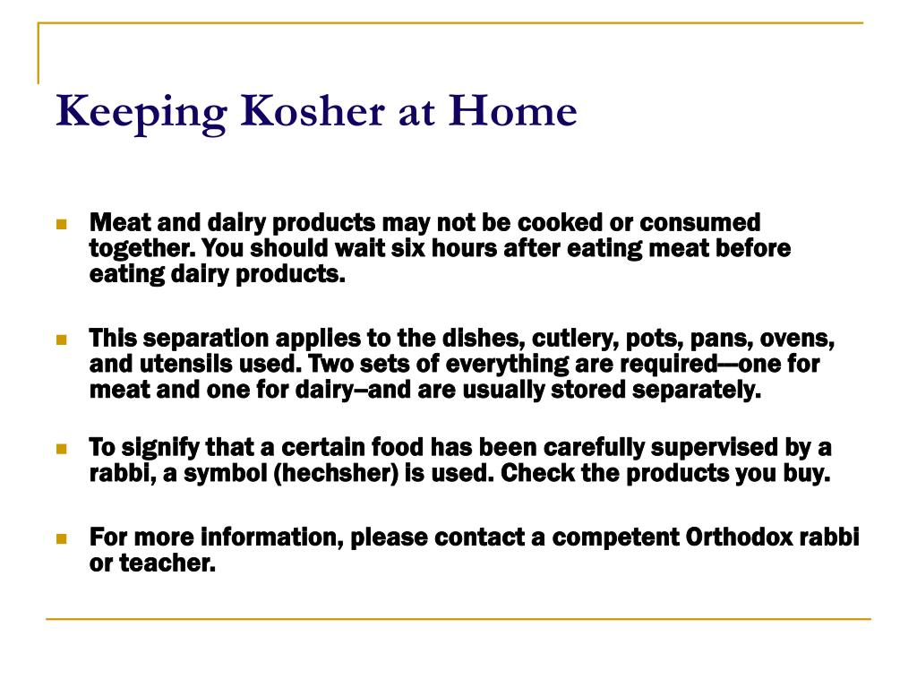 Keeping Kosher at Home