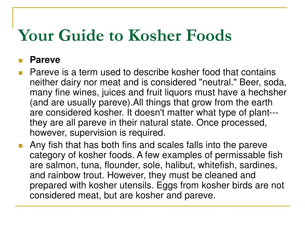 Your Guide to Kosher Foods