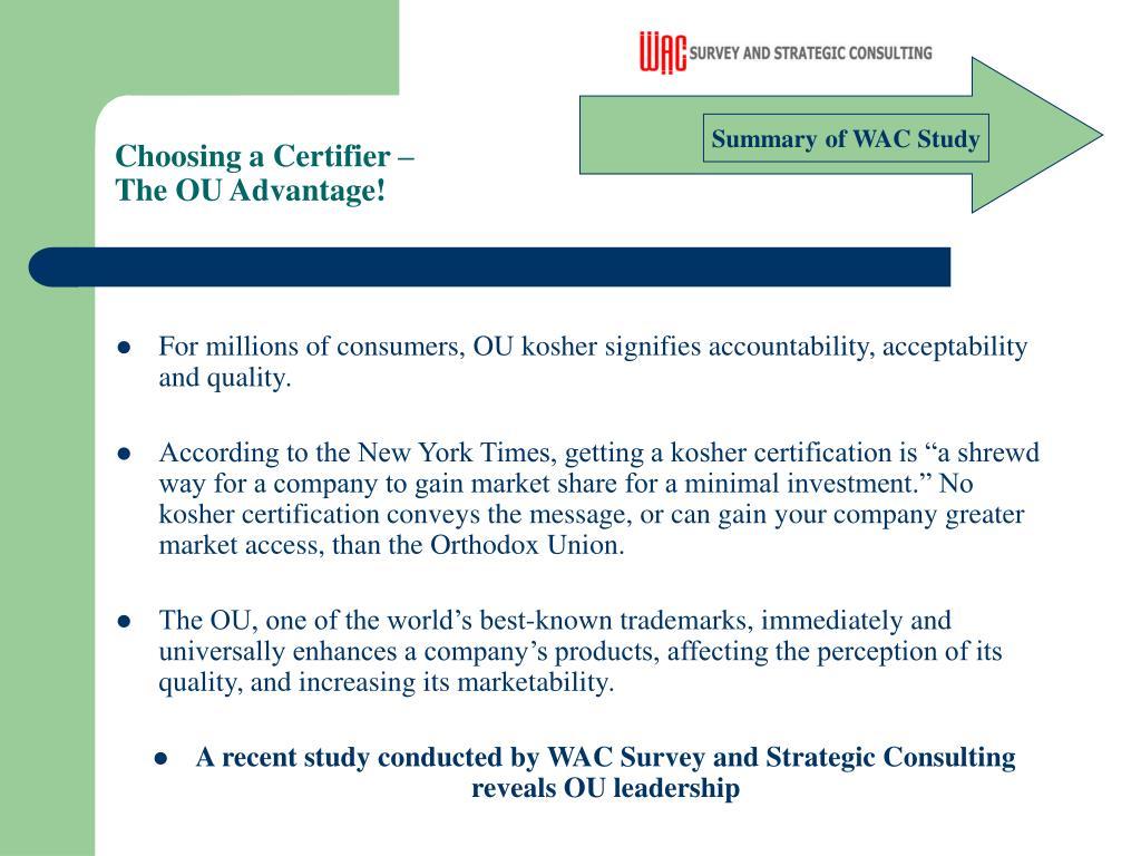 Choosing a Certifier –