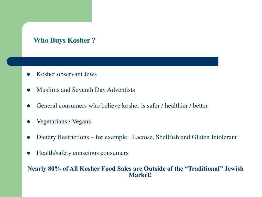 Who Buys Kosher ?