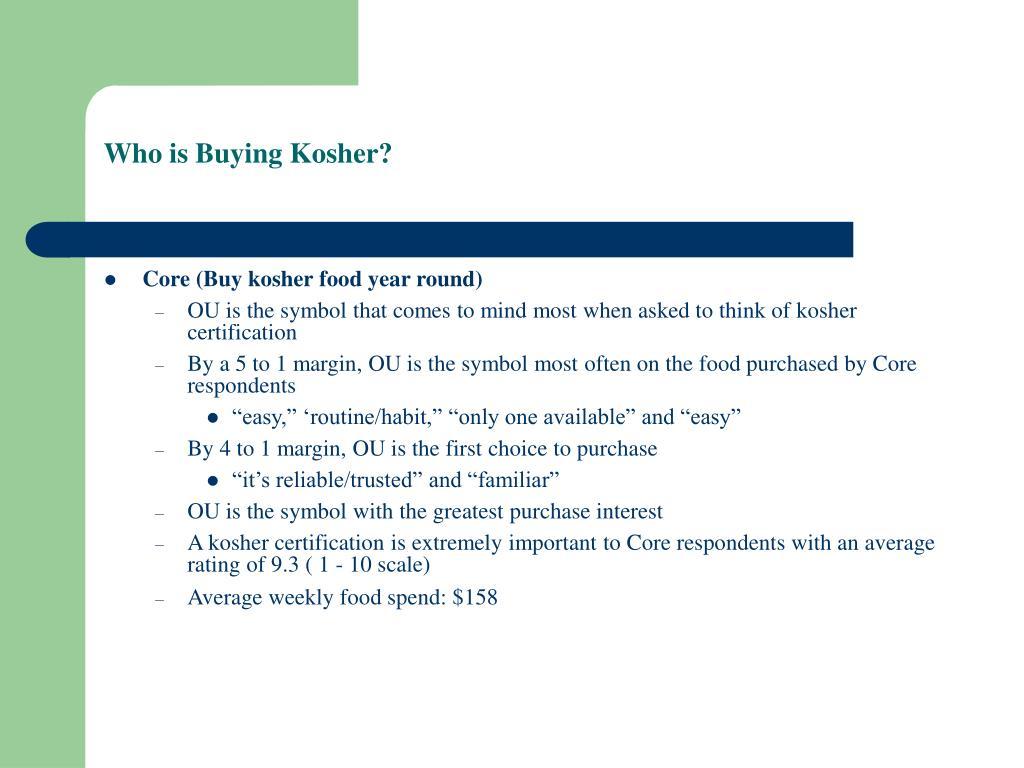 Who is Buying Kosher?