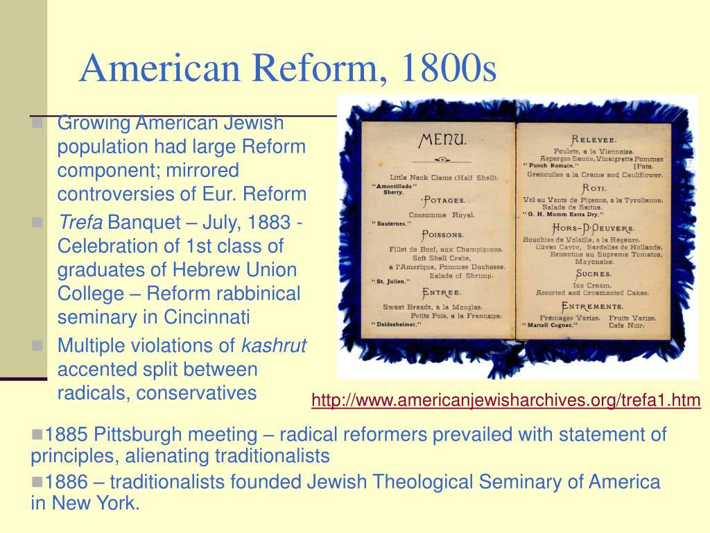 American Reform, 1800s