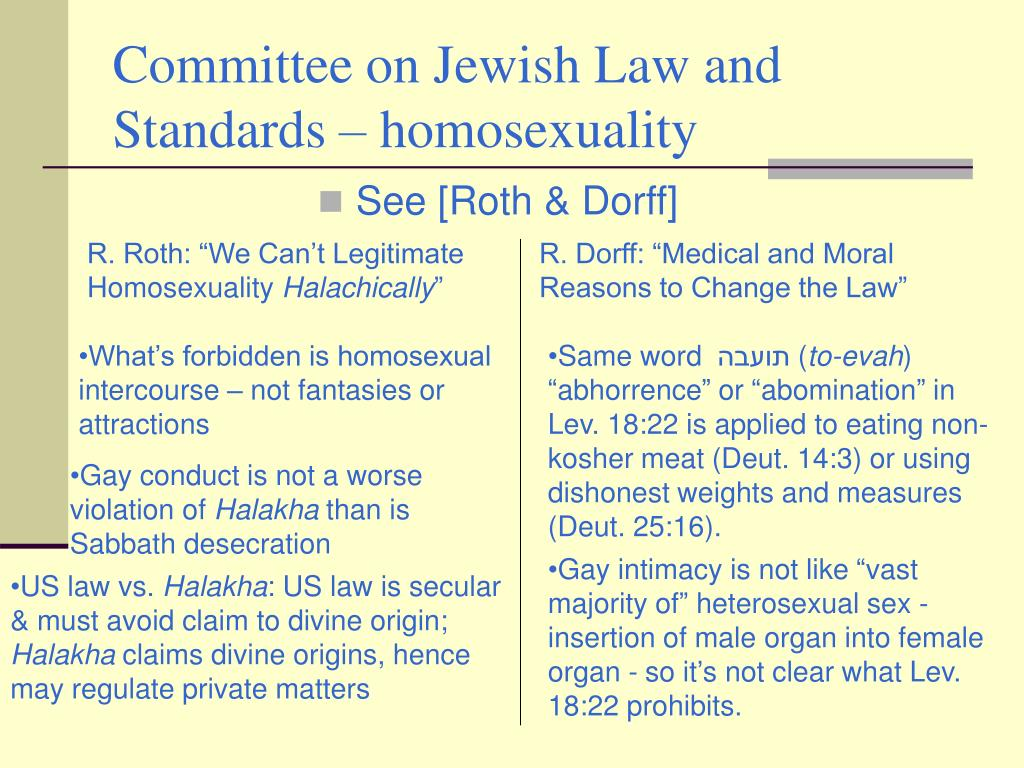 Committee on Jewish Law and Standards – homosexuality