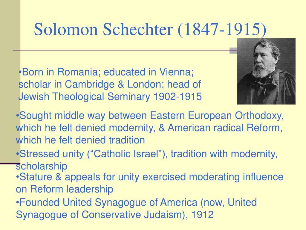 Solomon Schechter (1847-1915)