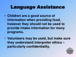 language assistance23