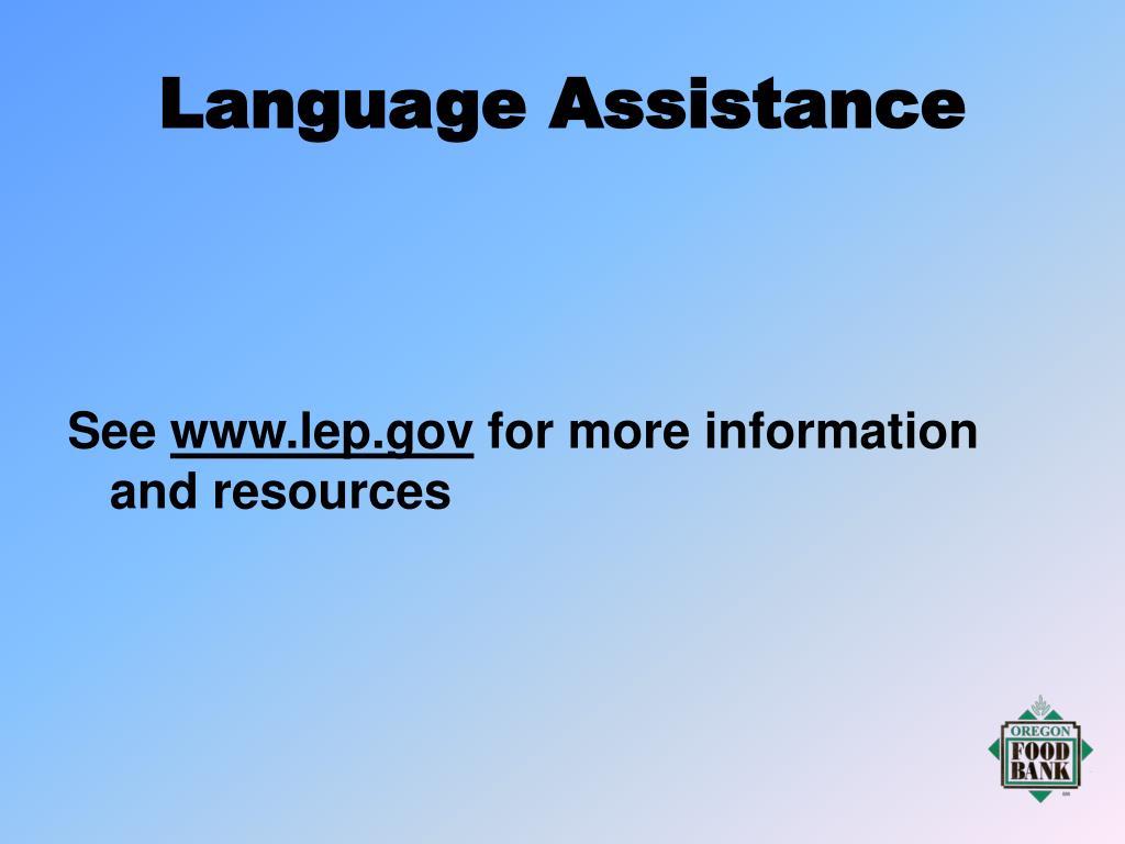 Language Assistance