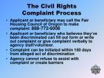 the civil rights complaint process