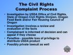 the civil rights complaint process31