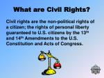 what are civil rights