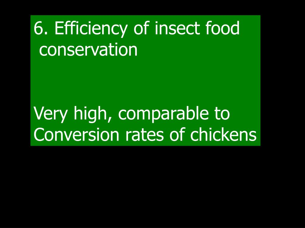 6. Efficiency of insect food