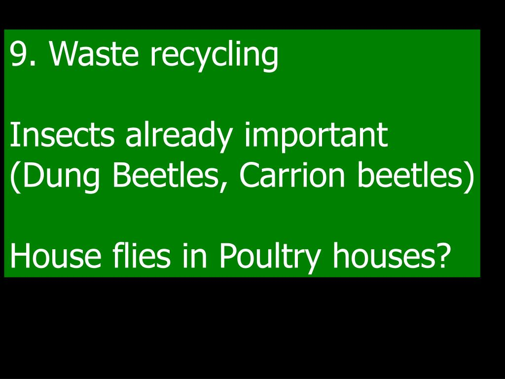 9. Waste recycling