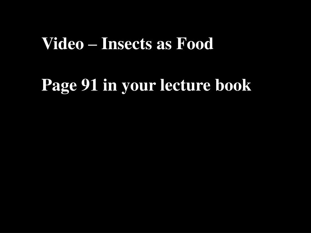Video – Insects as Food