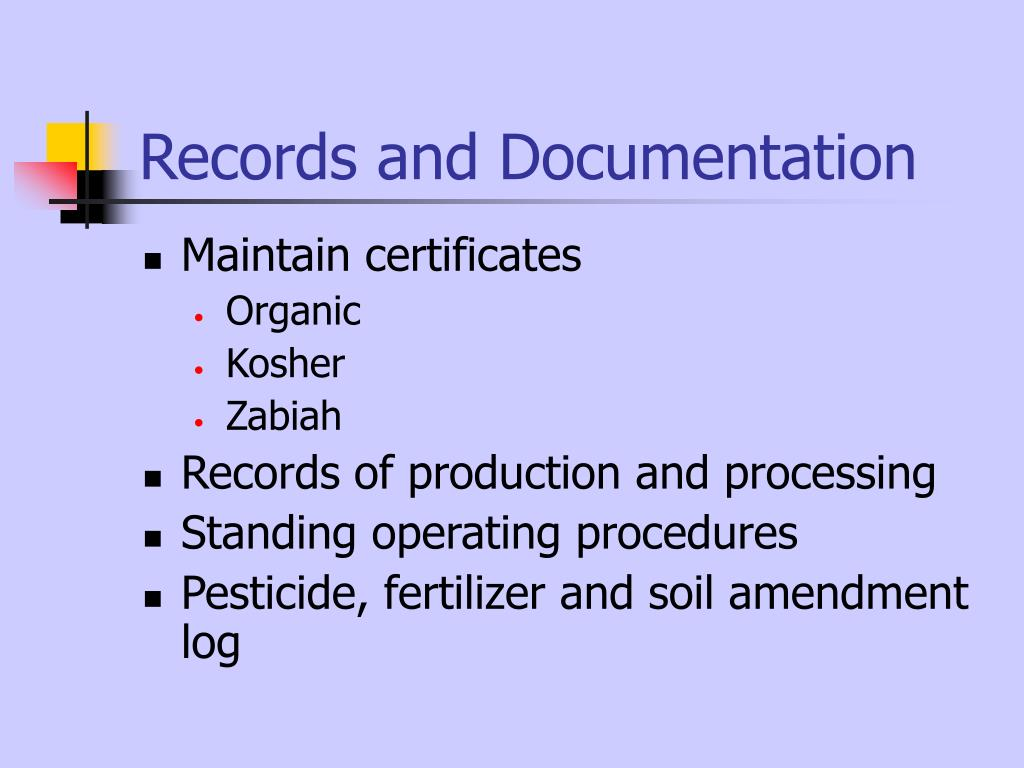 Records and Documentation