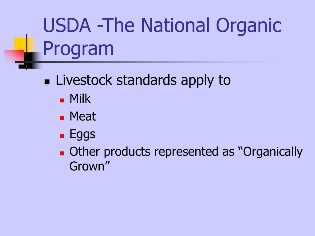 USDA -The National Organic Program
