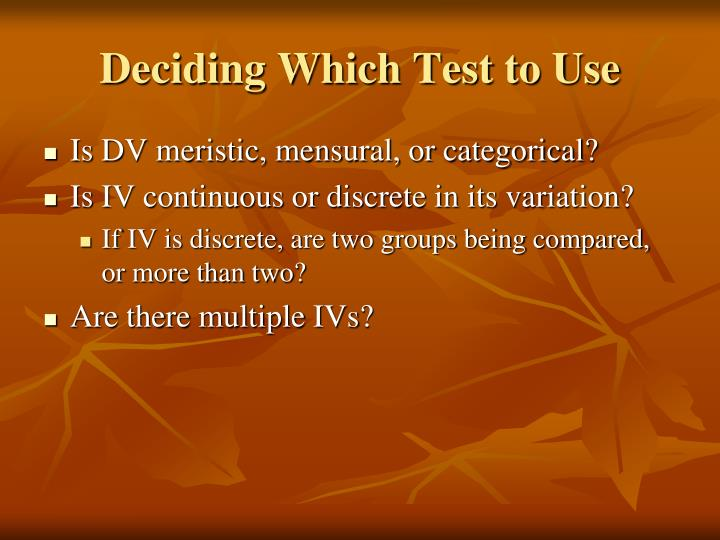Deciding which test to use l.jpg
