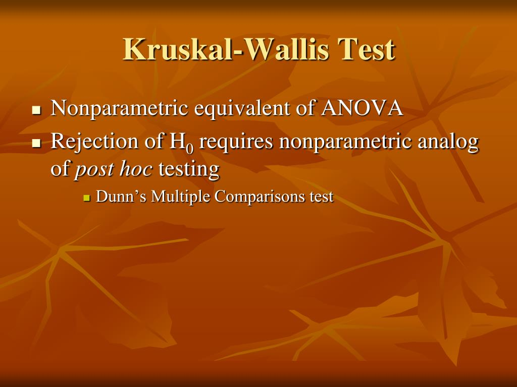 Kruskal-Wallis Test