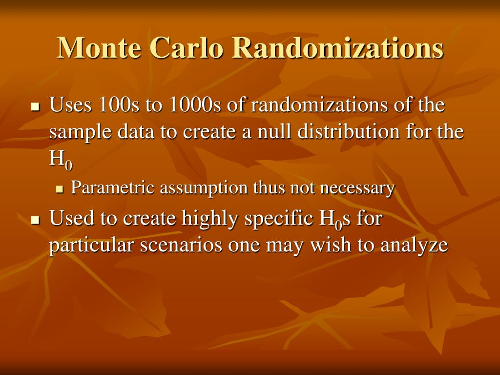 Monte Carlo Randomizations