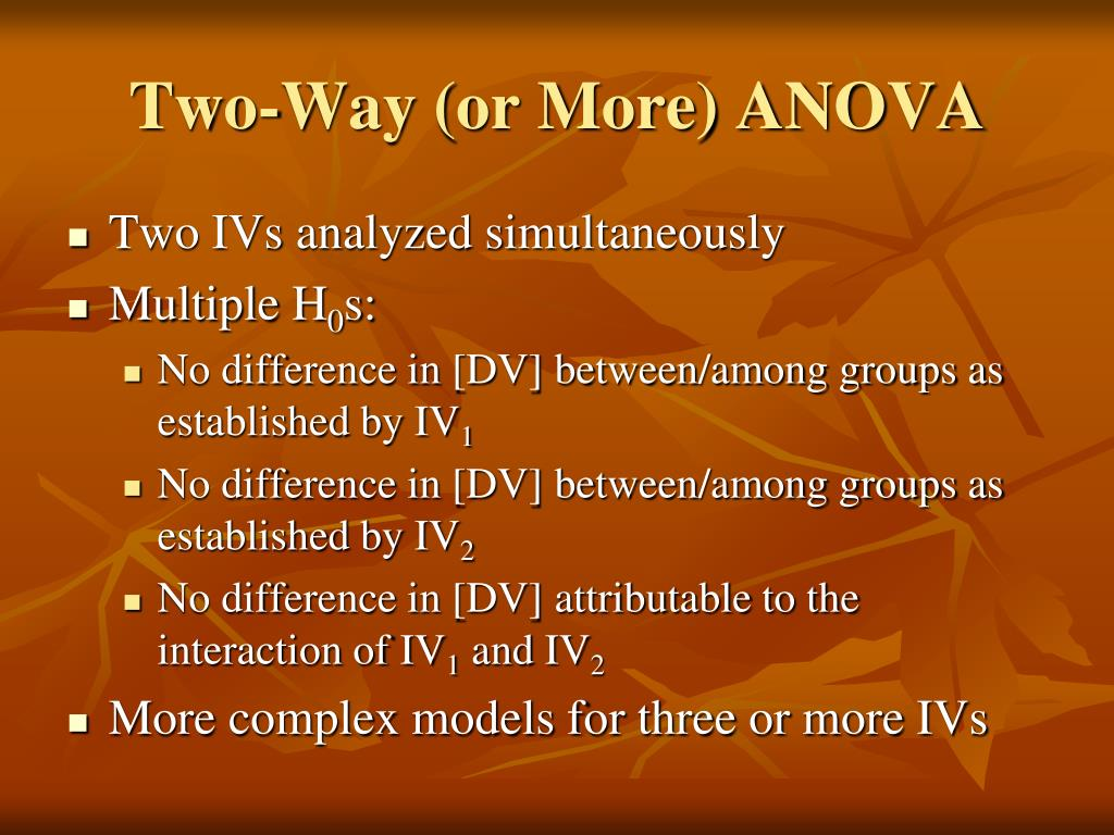 Two-Way (or More) ANOVA