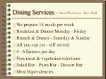 dining services meal plan facts res hall