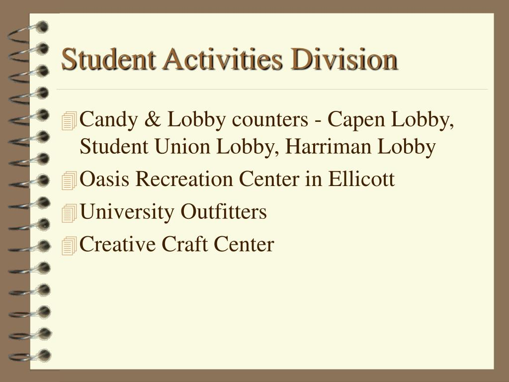 Student Activities Division