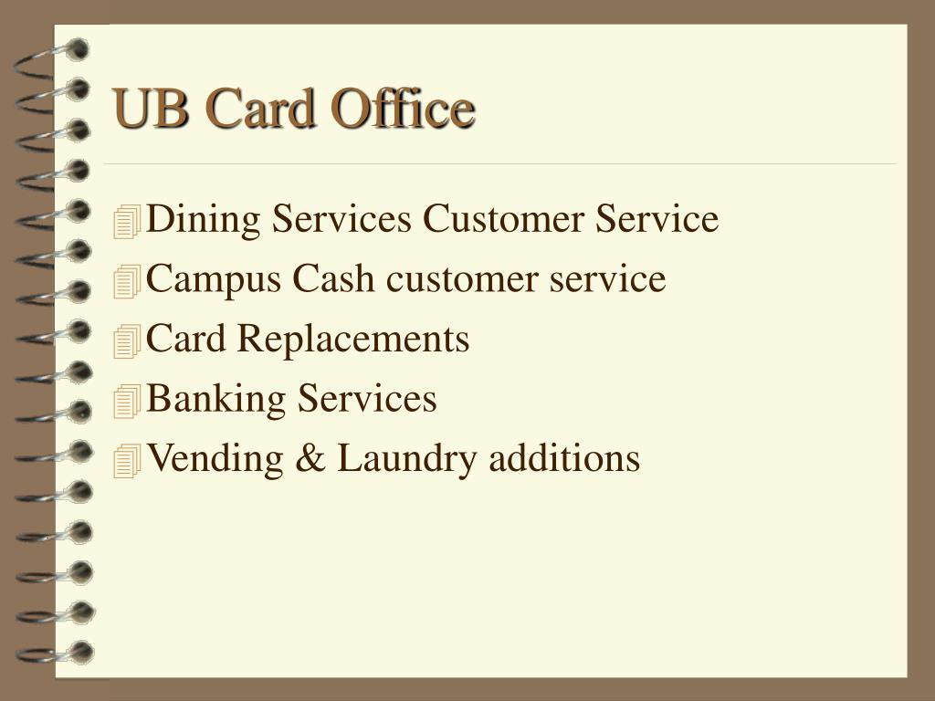UB Card Office