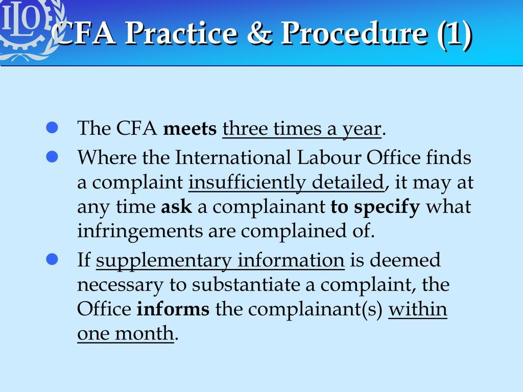 CFA Practice & Procedure (1)
