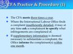 cfa practice procedure 1