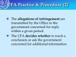 cfa practice procedure 2