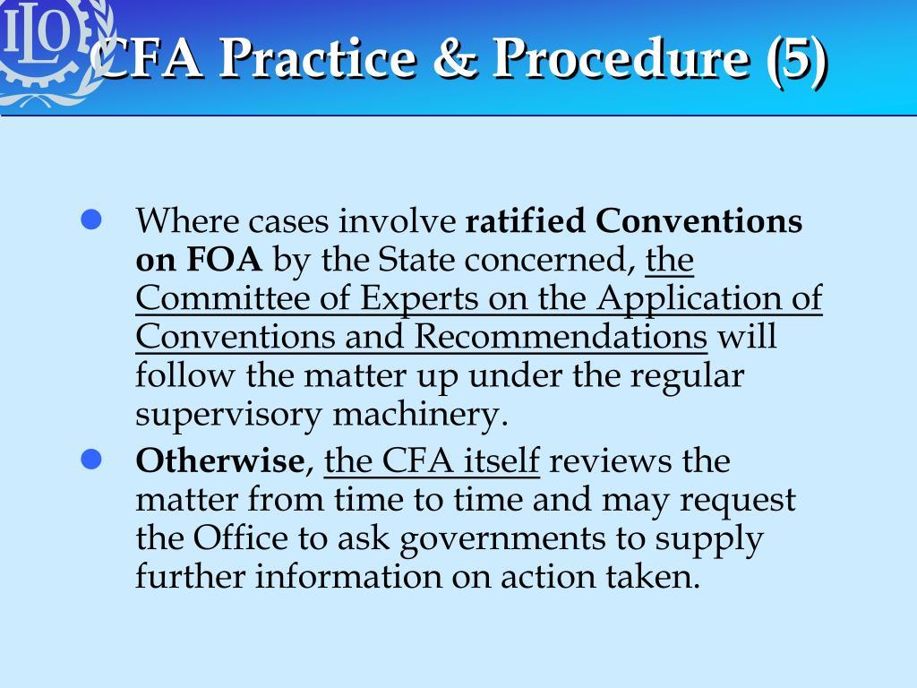 CFA Practice & Procedure (5)