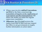cfa practice procedure 5