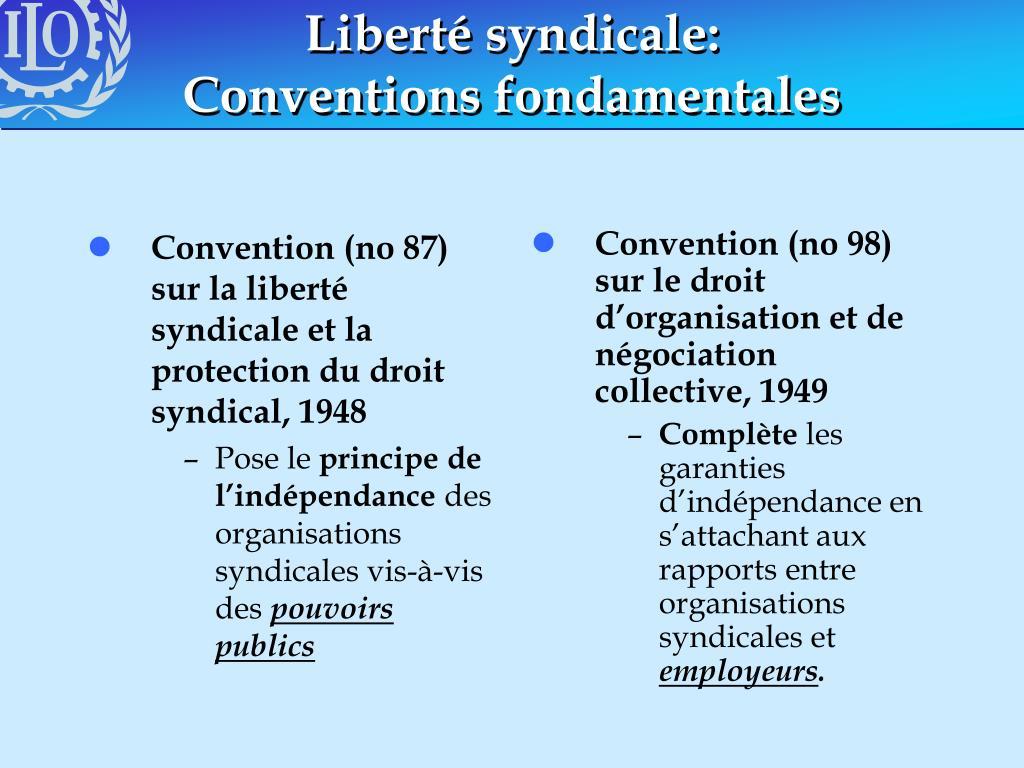 Convention (no 87) sur la liberté syndicale et la protection du droit syndical, 1948