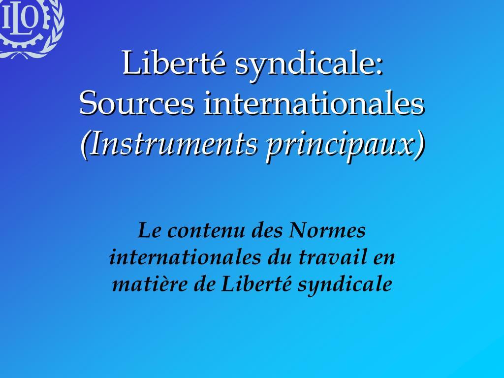 Liberté syndicale:
