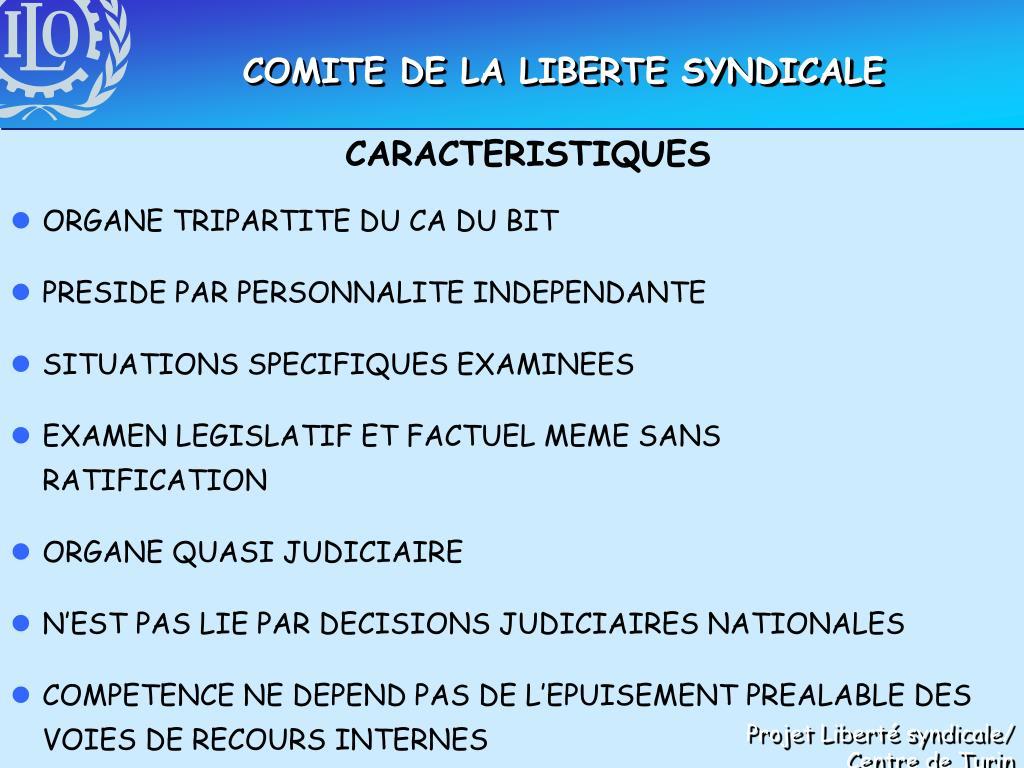 COMITE DE LA LIBERTE SYNDICALE