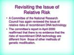 revisiting the issue of relative risk