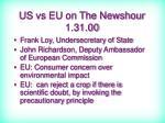 us vs eu on the newshour 1 31 00