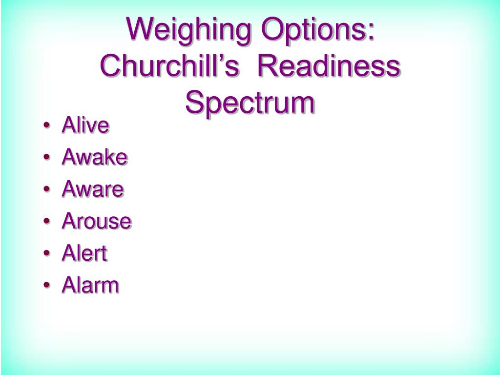 Weighing Options:
